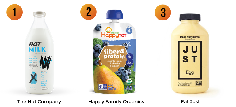 The Not Company, Happy Family Organics, Eat Just