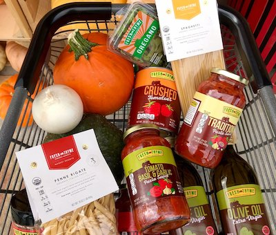 Fresh Thyme brand products shopping cart