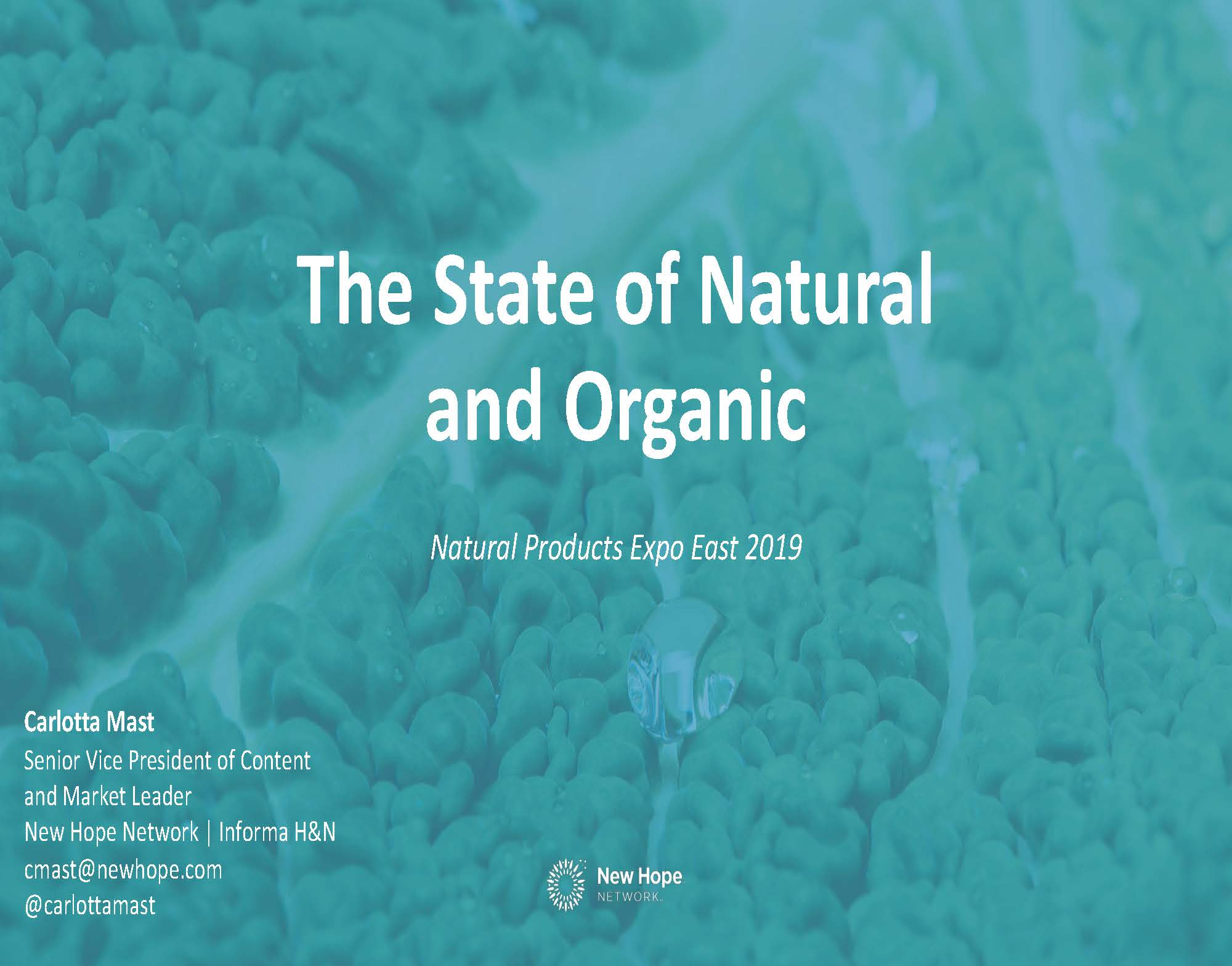Expo East 2019 State of Natural and Organic Slides