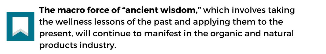 acient wisdom food trend factoid