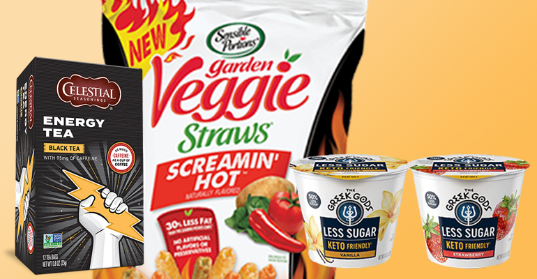 CEO Schiller shares the story of Hain's success innovation screamin hot veggie straws energy tea