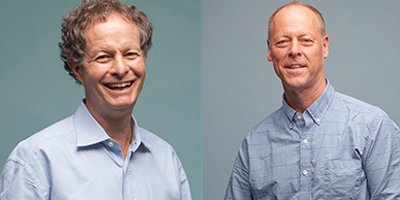John Mackey and Walter Robb, founders of Whole Foods