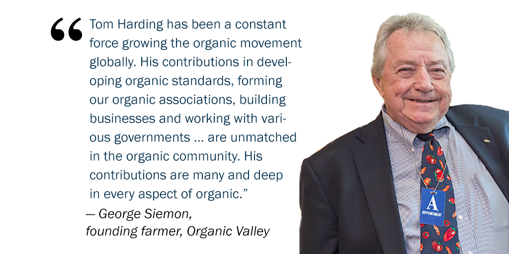 Thomas Harding Founder of the Organic Foods Production Assoc.