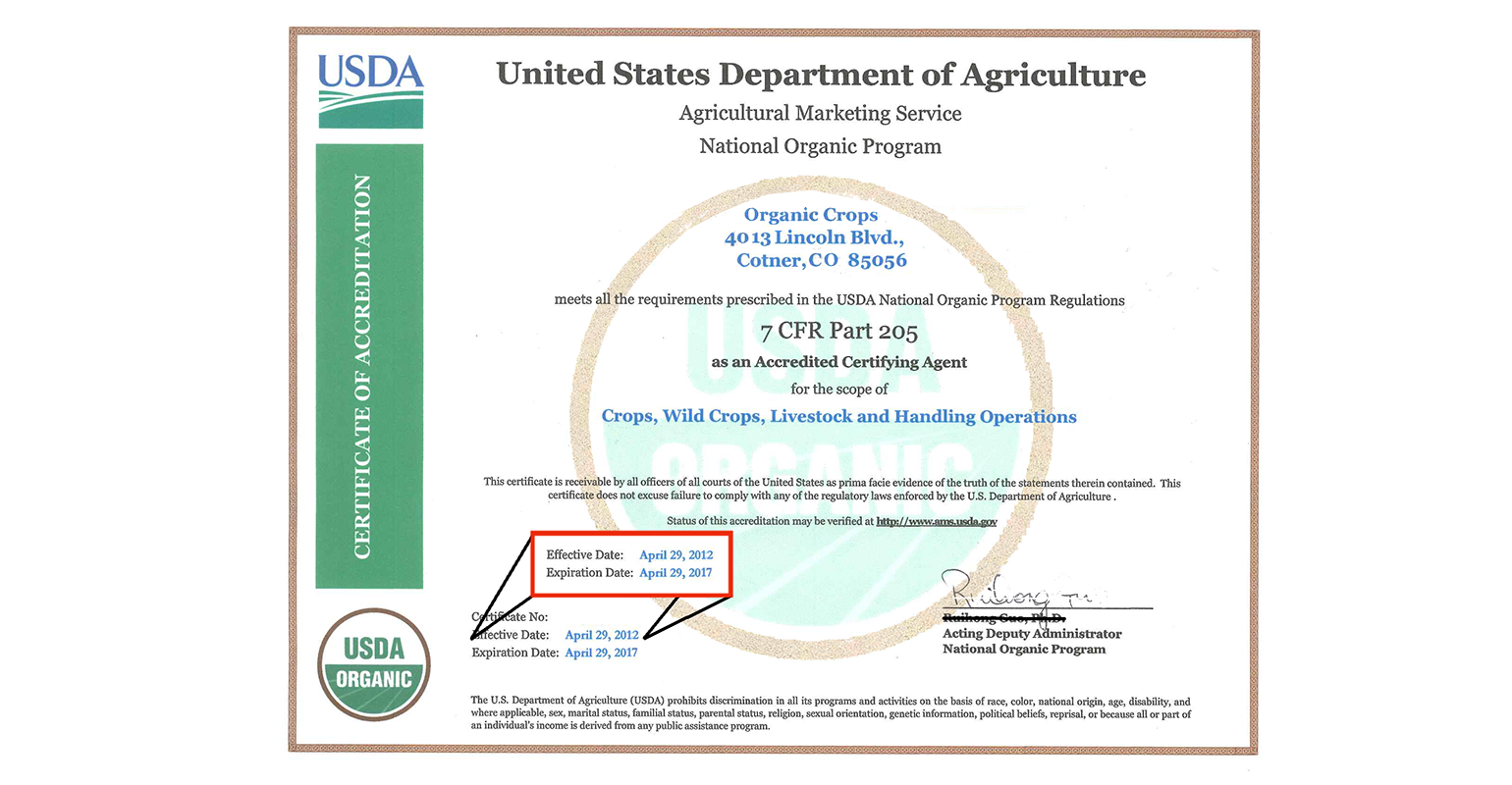 "The Standards Department verifies that products bearing the USDA Organic seal or claiming to be ""certified organic"" are certified and that the certification is current."