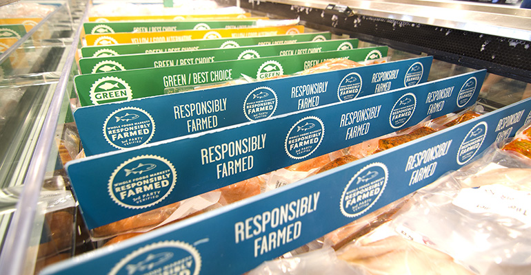 Education and customer service sell sustainable seafood Whole Foods