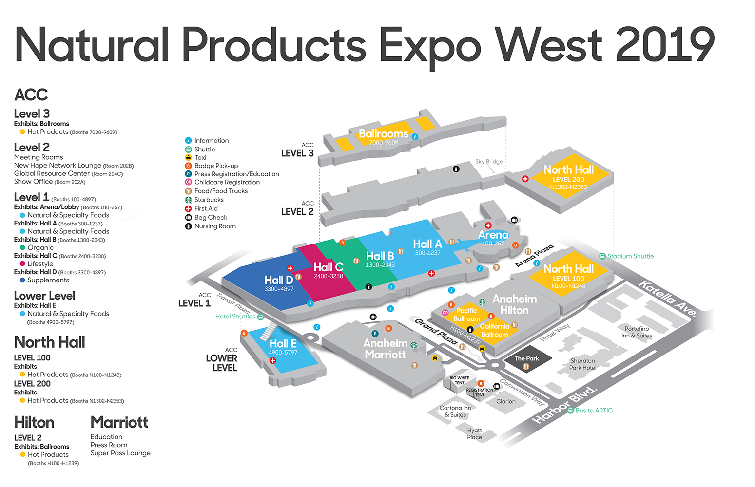 Expo West 2019 campus map