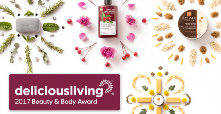 Delicious Living's 2017 Beauty & Body Awards