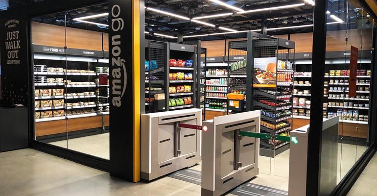 Amazon Go store checkout-free grocery retail