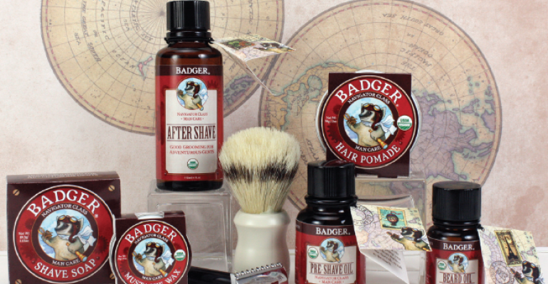 Im loving this new old school line of natural mens personal care products including hair pomade and beard oil all inspired by Badger Bills father Big Bill the Badger crew posted photos of him throughout their New England manufacturing facility for inspiration As always the brand uses highquality simple ingredients such as organic beeswax coconut oil vanilla jojoba and more