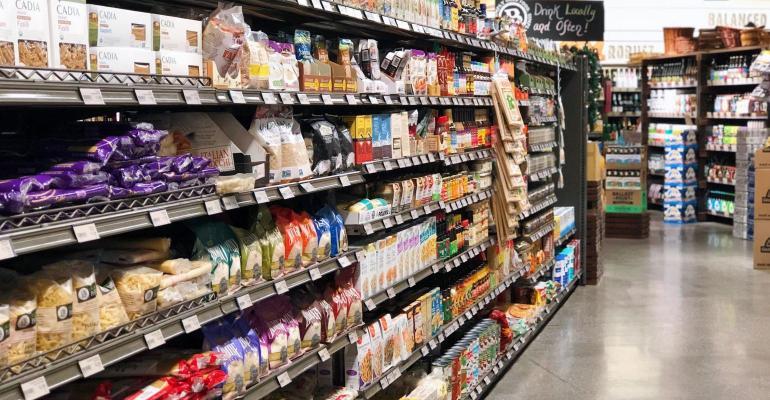 Barons Market pasta aisle