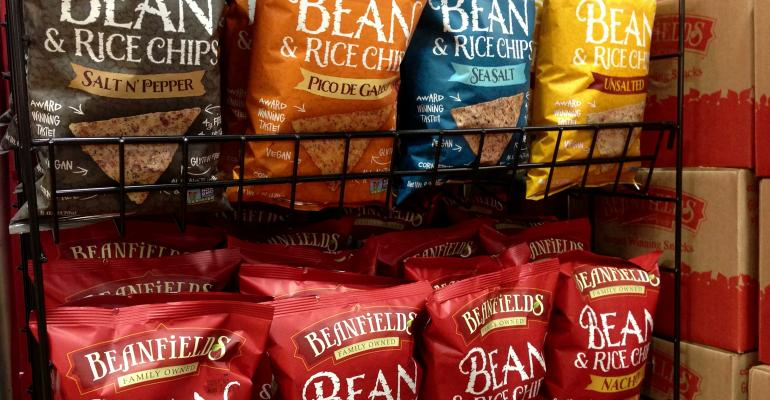 This bean chip stalwart remade its entire line in festive colors that help the Bean amp Rice Chips39 identity stand out