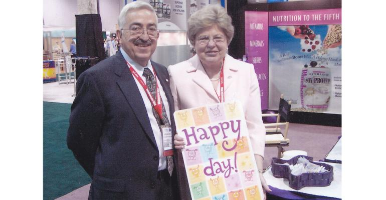 Bluebonnet Nutrition executives Bob Barrows Sr. and Joyce Barrows at NPA 2006