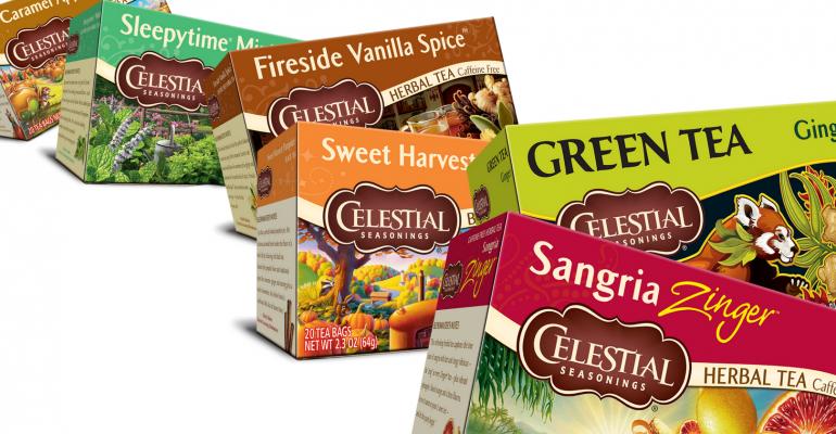 Celestial Seasonings tea assortment
