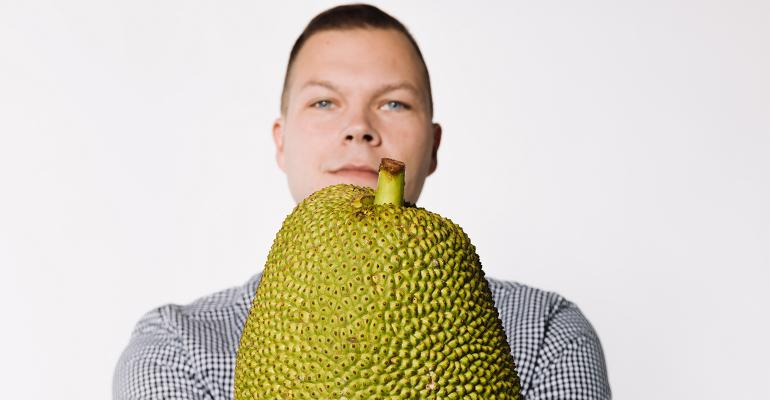Dan Staackmann with jackfruit