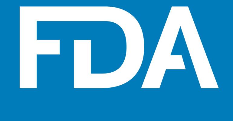 Food and Drug Administration logo white FDA