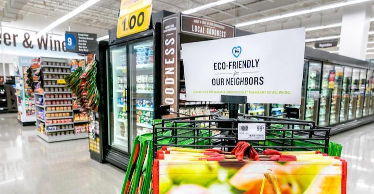 Food lion sustainability store signage