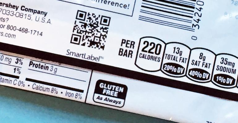 SmartLabel on Hershey's bar