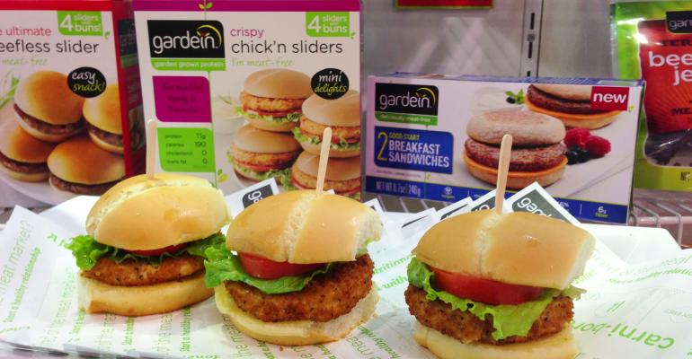 Gardein reinvigorated its brand this year at Expo West with I lost my veginity buttons and new product launches including a breakfast sandwich and these sliders that were one of our favorite finds from the show While certified vegan but not organic Gardein does source nonGMO ingredients such as its soy protein