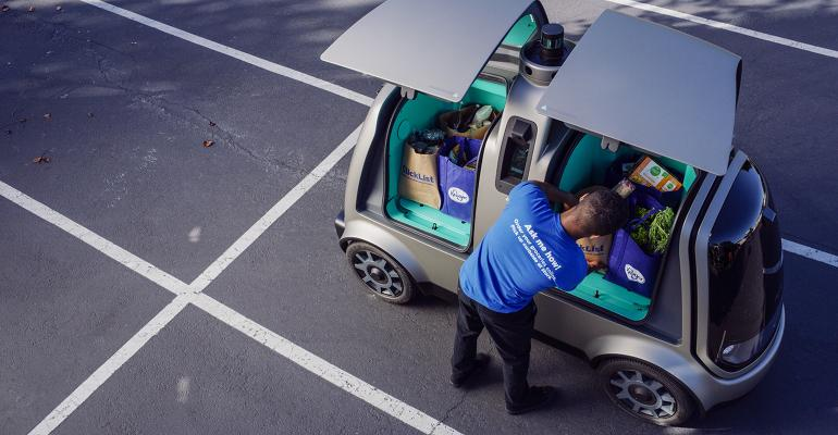 Kroger pilots driverless delivery cars