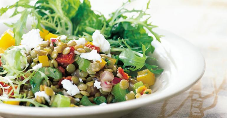 This proteinrich dish bursts with flavor fiber and complex carbohydrates Serve it on a bed of fresh lettuce topped with feta cheese crumbles and olives View recipe