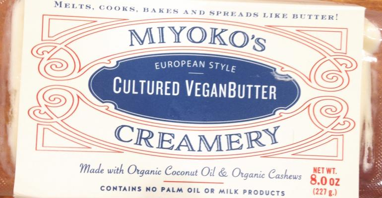This vegan butter is notable because it contains ultraclean ingredientsmdashno hydrogenated oils here Rather cultured coconut oil and cashews make up the bulk of this saltysweet spread that we sampled smeared on a piece of bread hellip and then sampled again because itrsquos so tasty Also check out Miyokorsquos fresh vegan mozzarella a category firstnbspmiyokoskitchencom