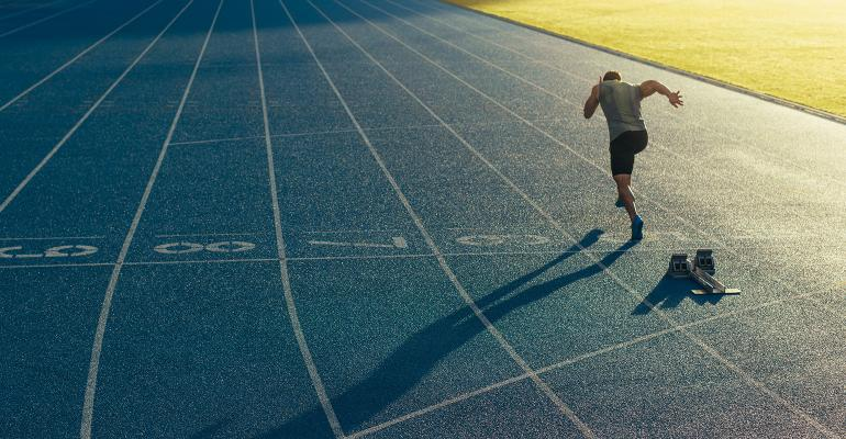 man running health supplement