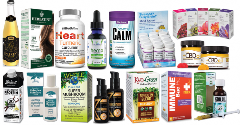November/December Natural Products Showcase products