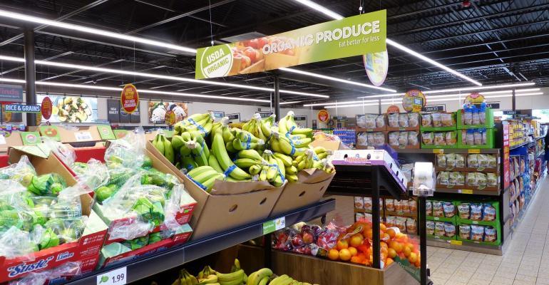 organic produce section aldi