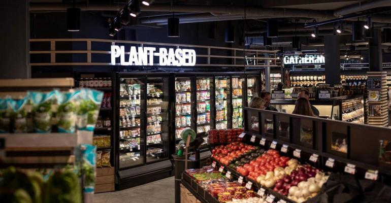 plant based food section