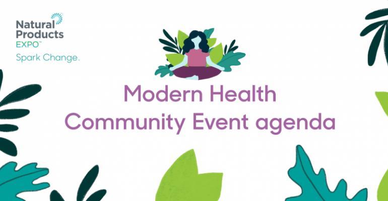 modern health agenda header