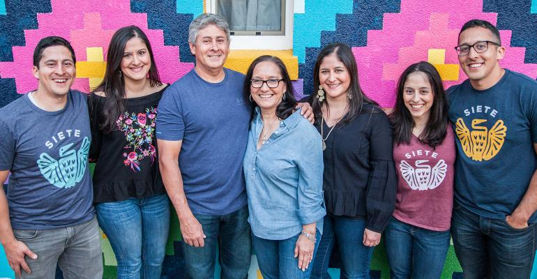 Seven members of the Garza family work for Siete Family Foods