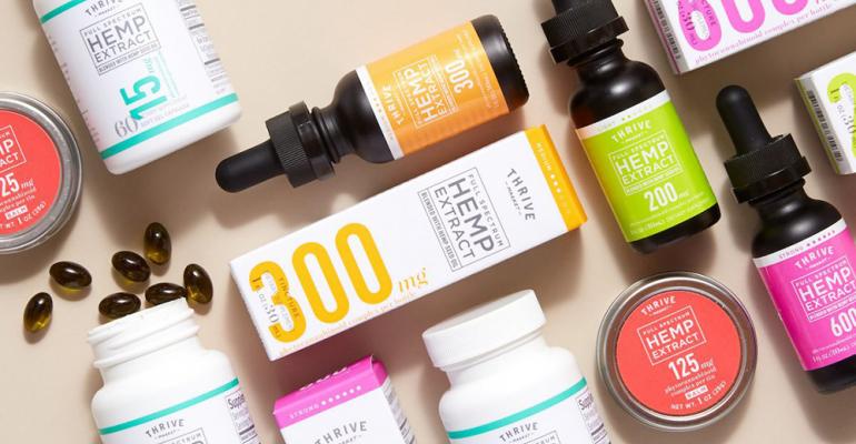 Thrive Market hemp- and cannabidiol-based products