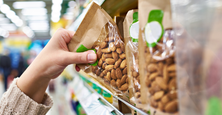 Almonds in bags