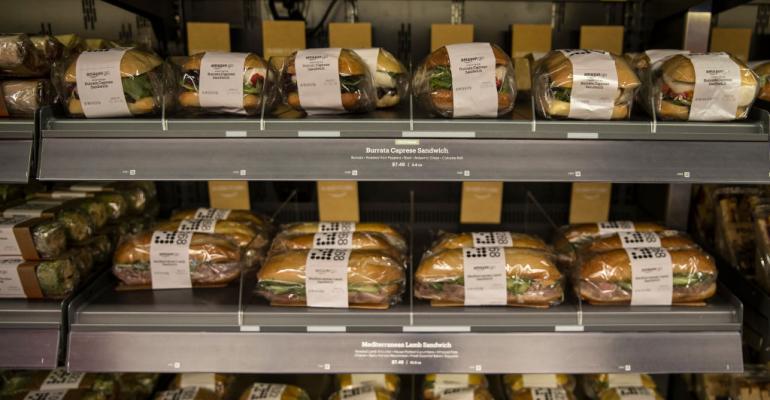 sandwiches at Amazon Go