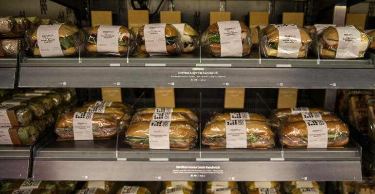 sandwiches at Amazon Go