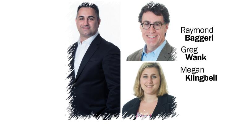 Raymond Baggeri, Greg Wank, Megan Klingbeil