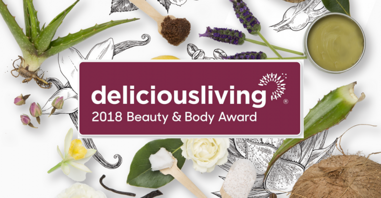 Delicious Living Beauty & Body Awards 2018
