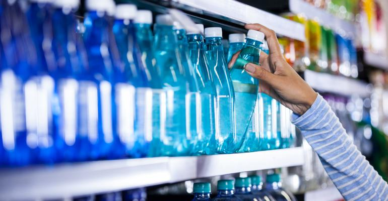 bottled water at grocery