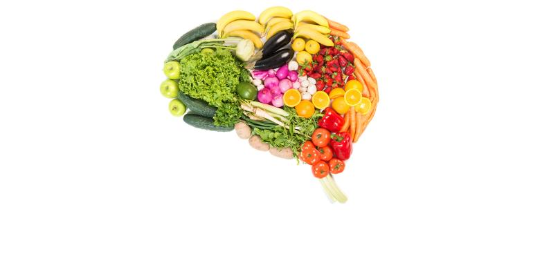 Brain made up of produce