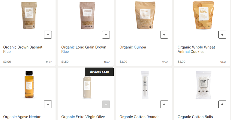Brandless $3 groceries online