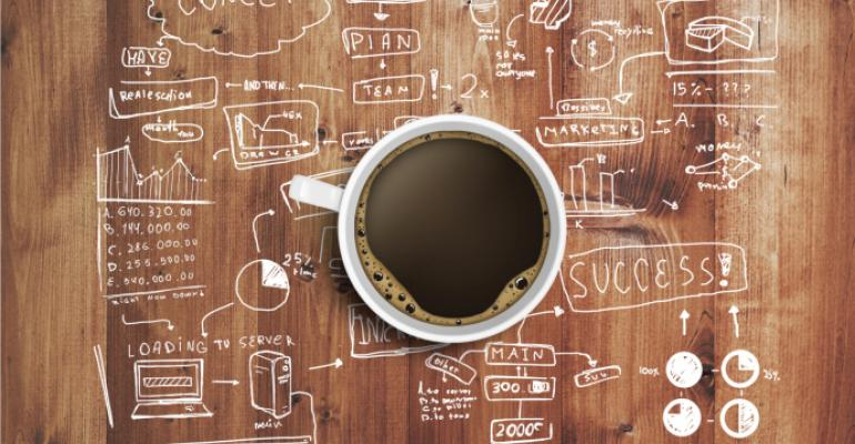 business strategy coffee stock art