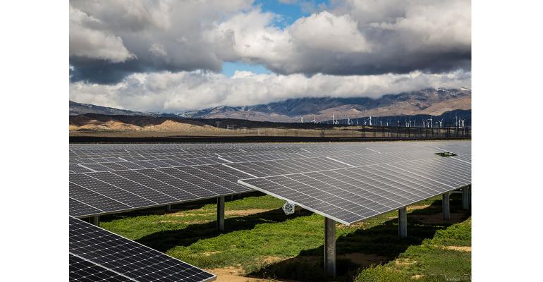 A solar farm in California
