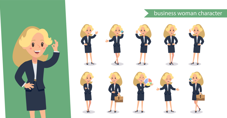 Business woman character
