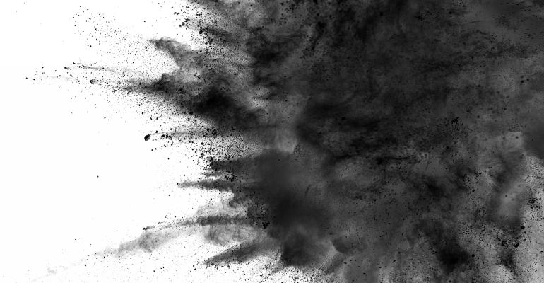 Charcoal splash