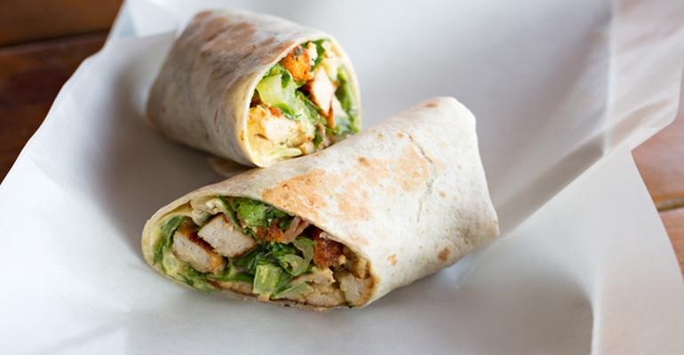 chicken ceasar wrap grab-and-go