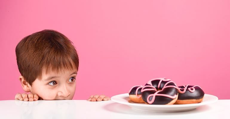 child junk food donuts