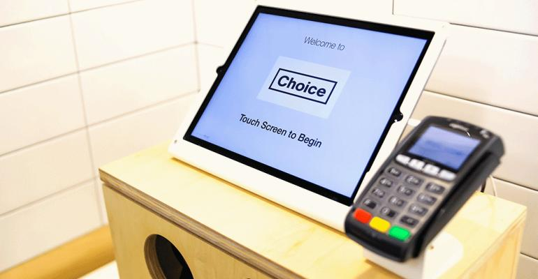 Choice Market uses touchscreen ordering