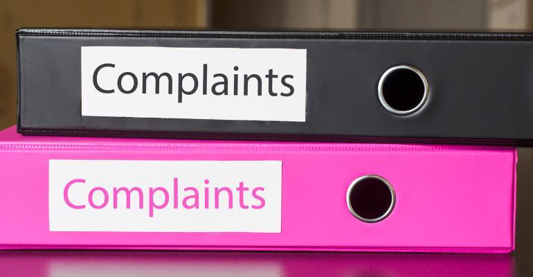 Folders labeled Complaints