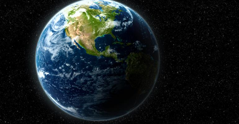 Earth from space graphic