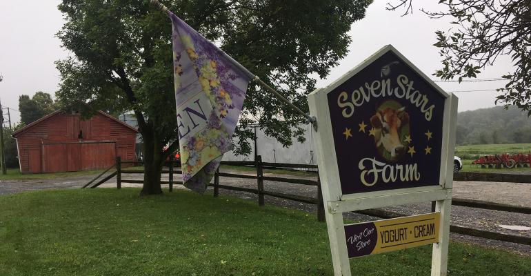 Seven Stars Farm sign